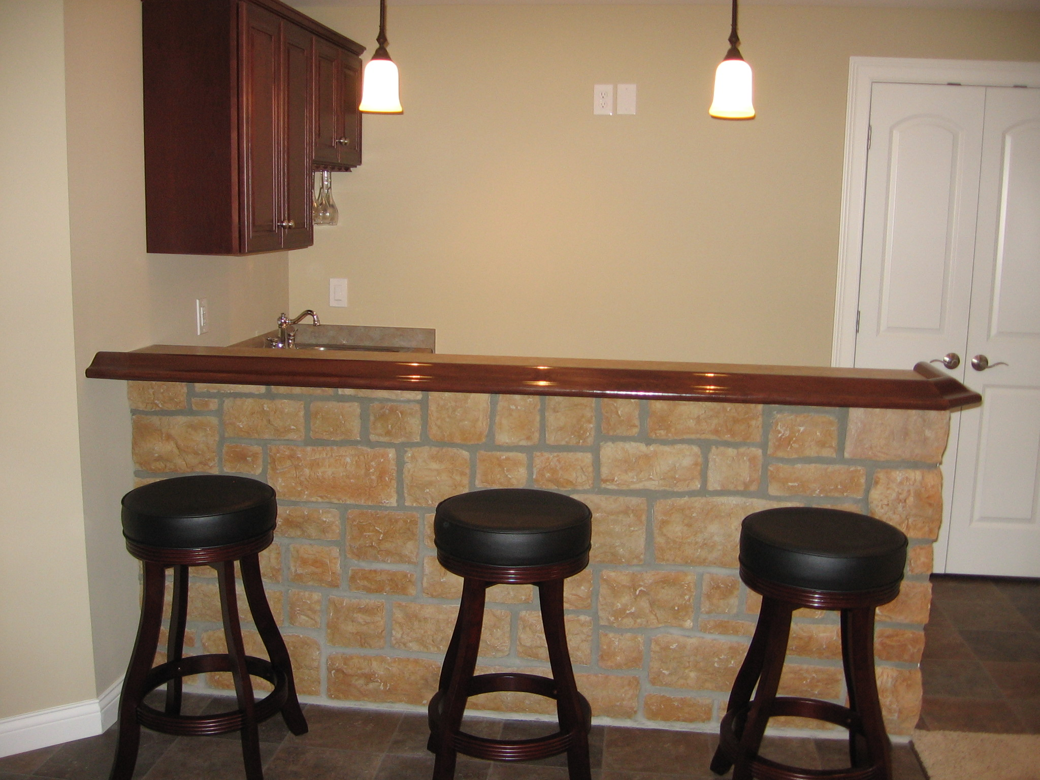 Home improvement on a tight budget paint yourself in Do it yourself bars for basements