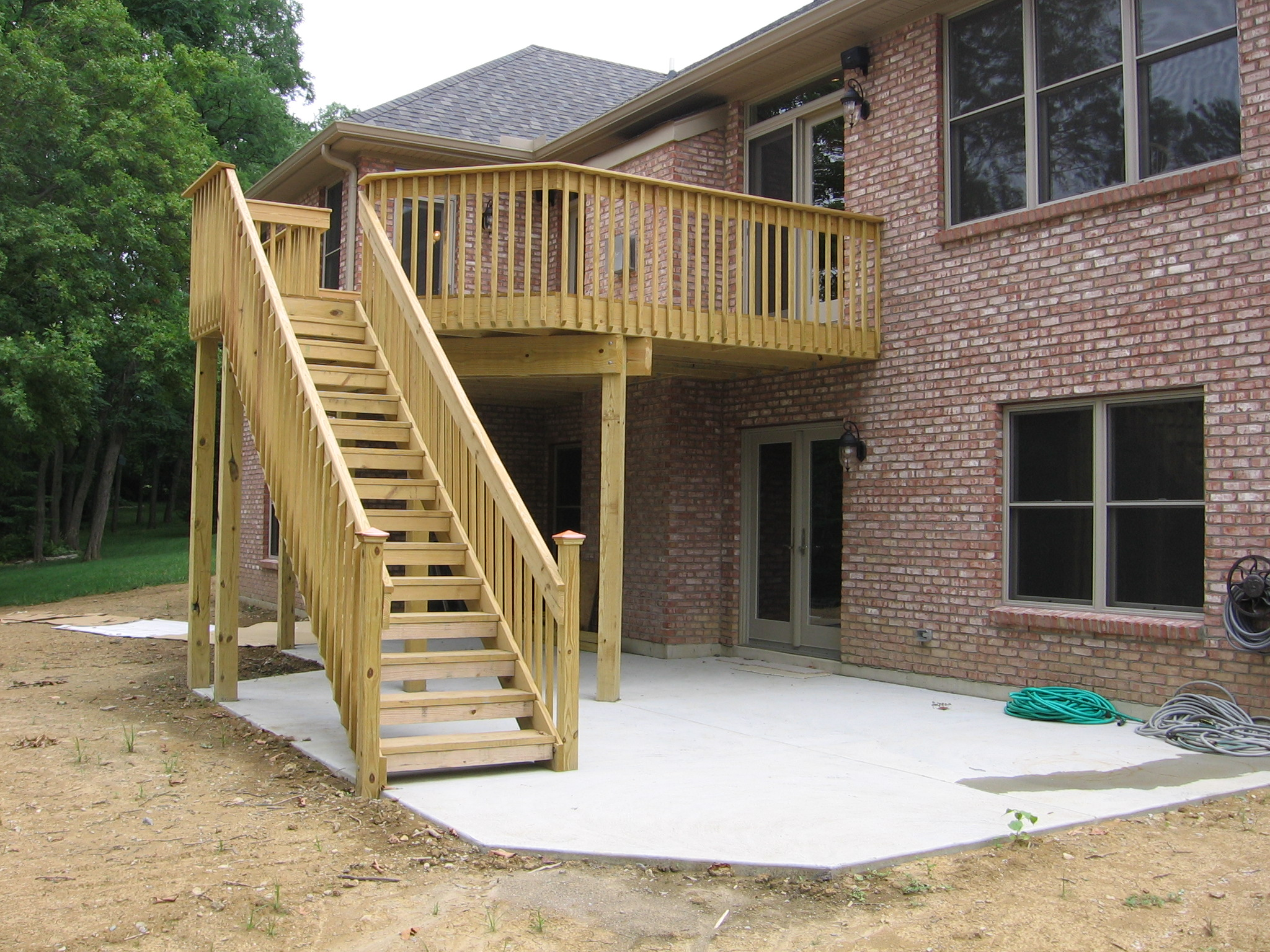 Free home plans home deck designs for Patio construction ideas